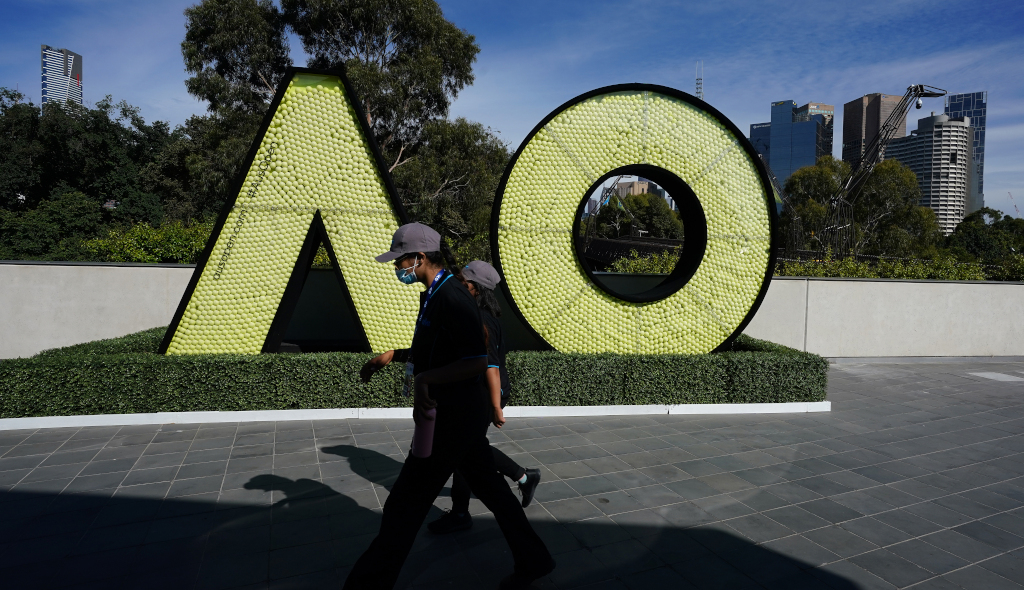 Australian Open logo at Melbourne Park