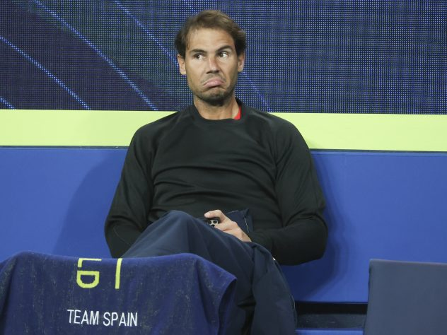 Rafael Nadal has had to watch his Spanish team-mates from the sidelines