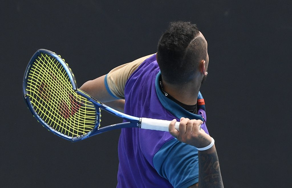Nick Kyrgios racket smash