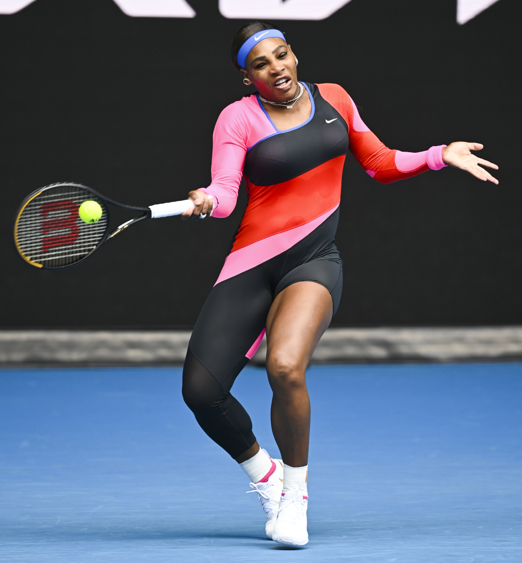 Serena Williams catsuit at 2021 Australian Open