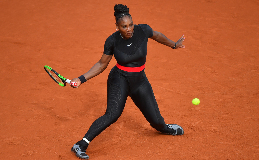 Serena Williams catsuit at 2018 French Open