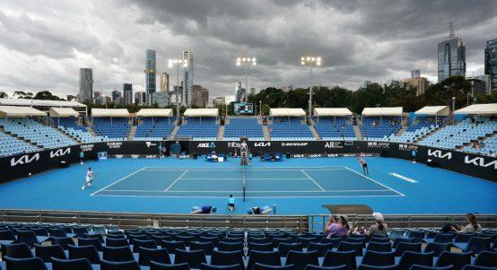 Cloudy Melbourne Park - Australian Open