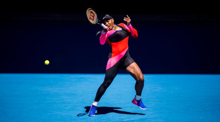 Serena Williams in full flow
