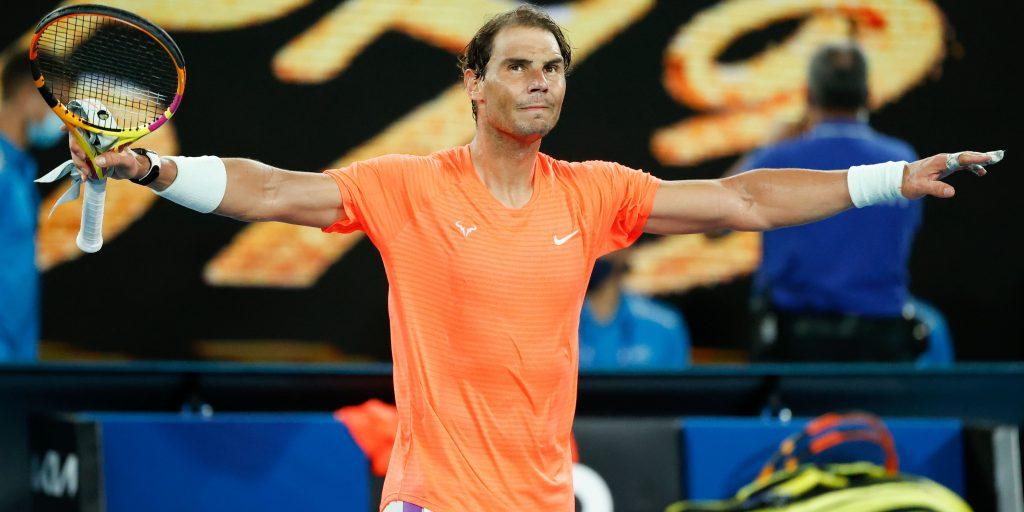 Rafael Nadal victorious