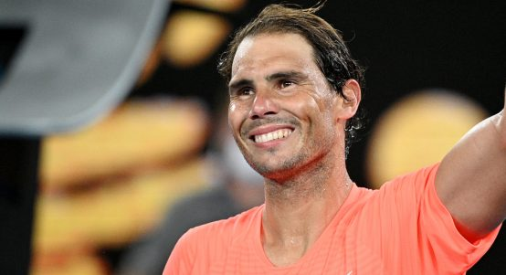 Rafael Nadal in cheerful mood