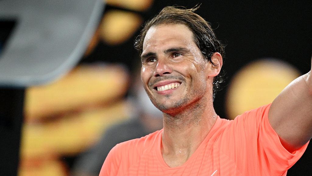 Rafael Nadal in cheerful mood