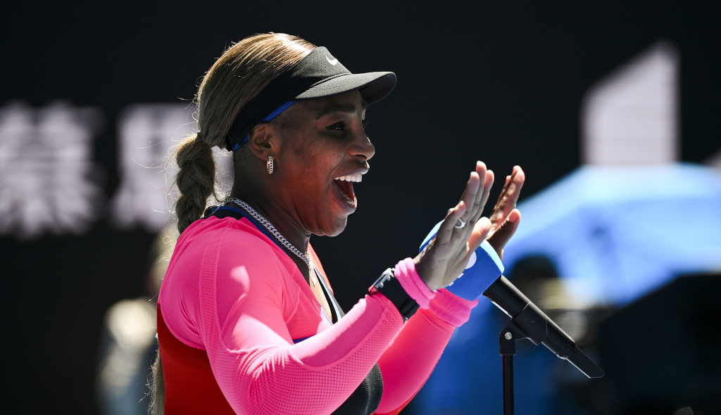 Serena Williams post-match