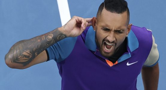 Nick Kyrgios shouting