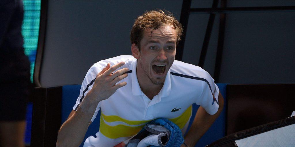 Daniil Medvedev yelling