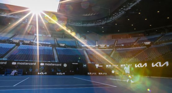Sun shining at Melbourne Park Australian Open