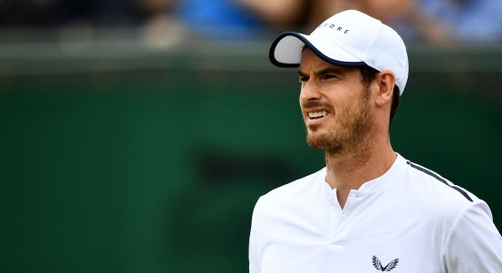 Andy Murray looking perplexed