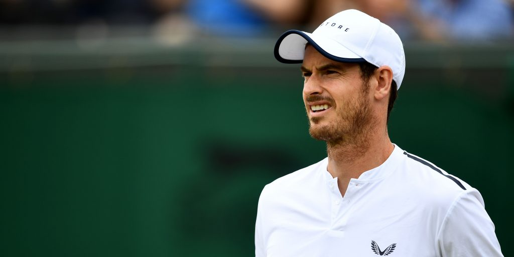 Andy Murray looking perplexed