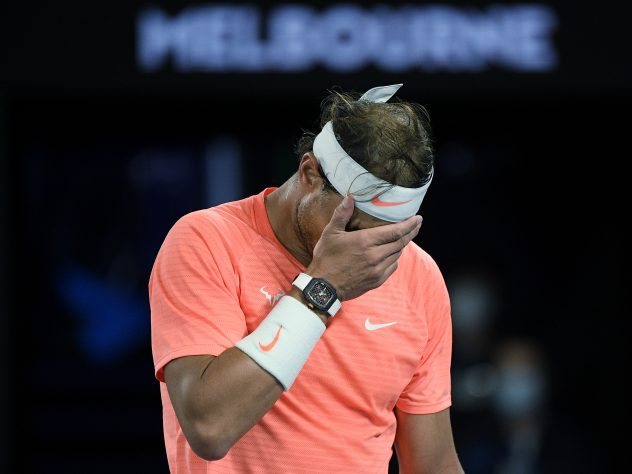 Rafael Nadal put his foot in it in the press room