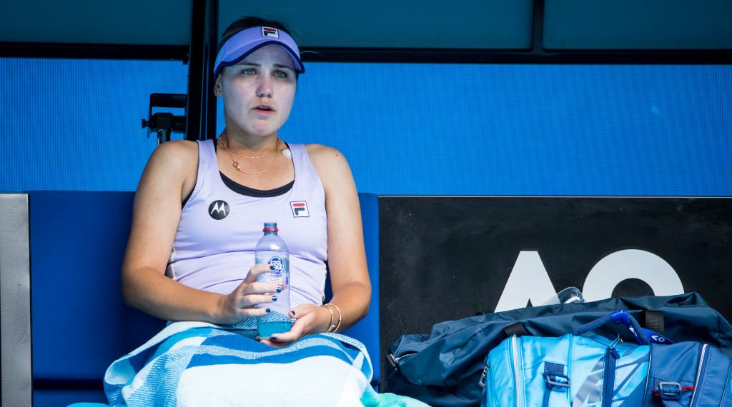 Sofia Kenin at the changeover