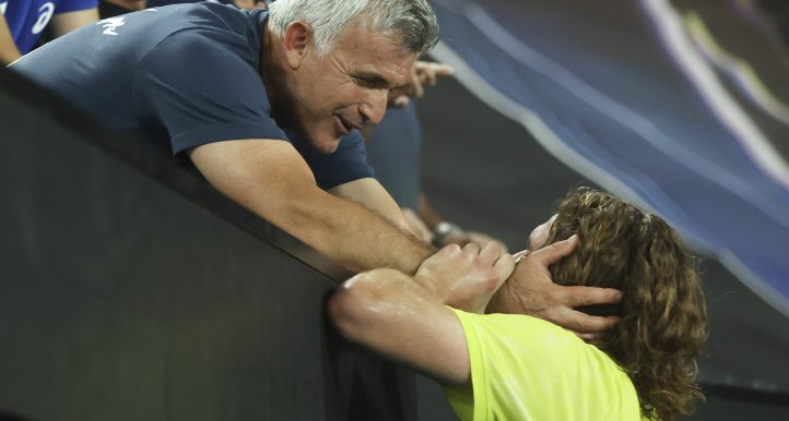 Stefanos Tsitsipas and his father Apostolos