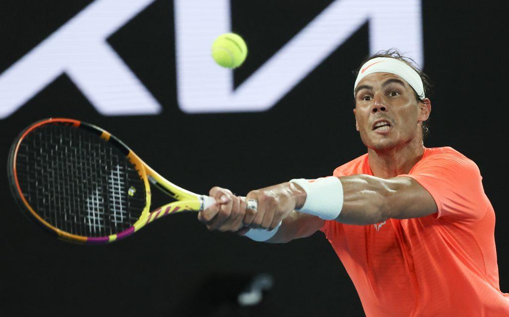 Rafael Nadal on the stretch