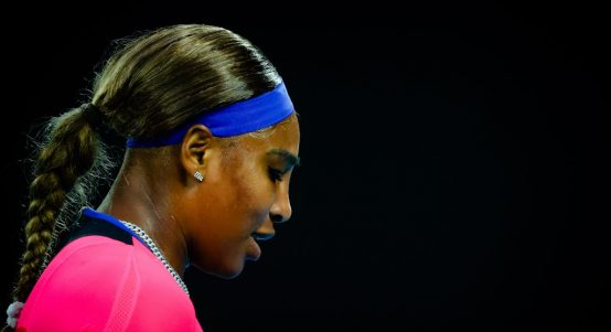 Serena Williams looking down