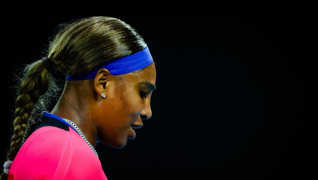 Serena Williams looking down