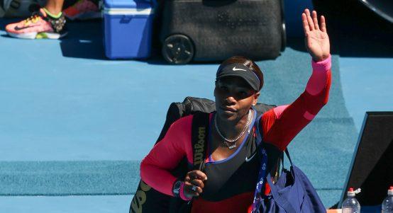 Serena Williams waving