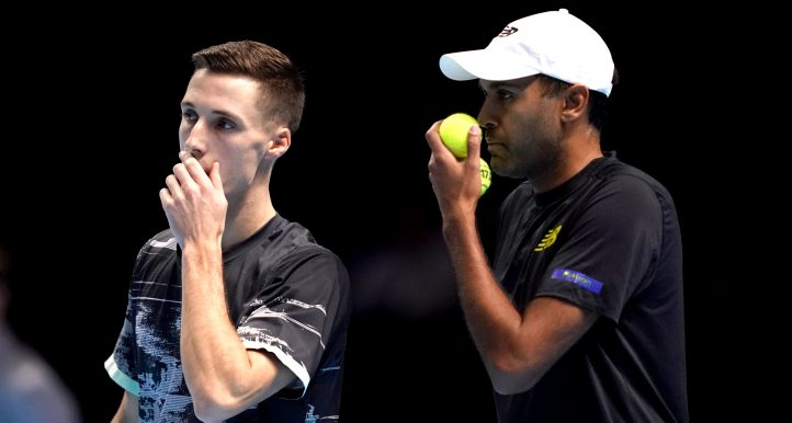 Joe Salisbury (left) and Rajeev Ram