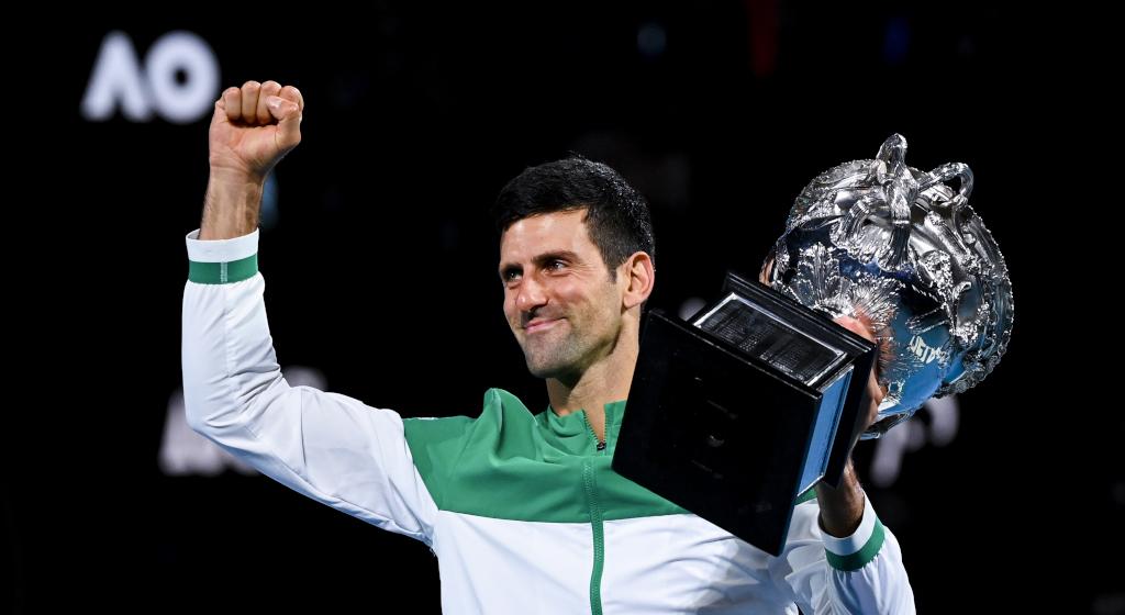 Novak Djokovic 2021 Australian Open champion