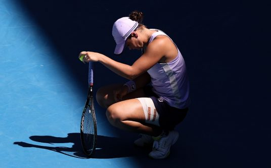 Ashleigh Barty down
