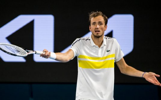 Daniil Medvedev frustrated