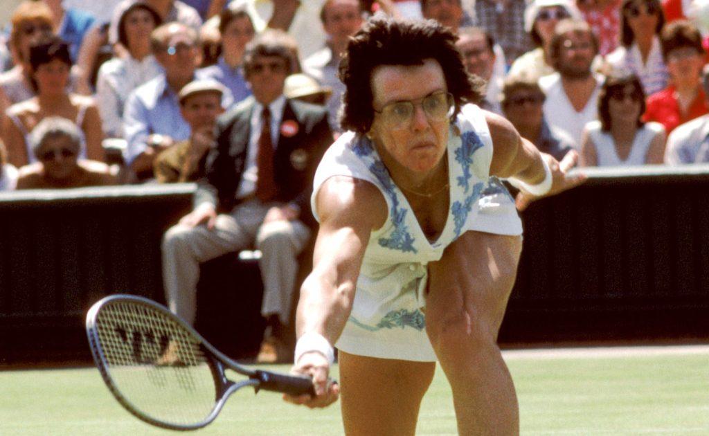 Billie Jean King in action