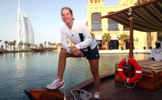 Justine Henin in Dubai
