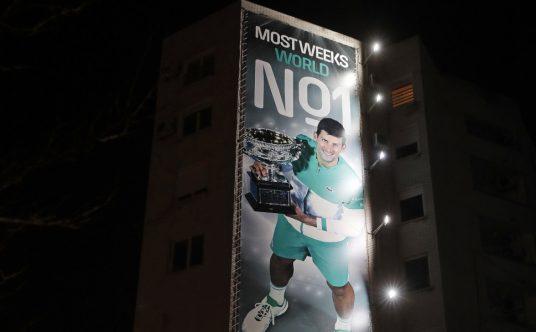 Novak Djokovic most weeks at No 1