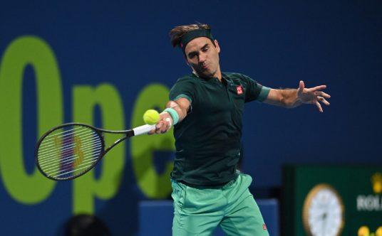 Roger Federer in full flow