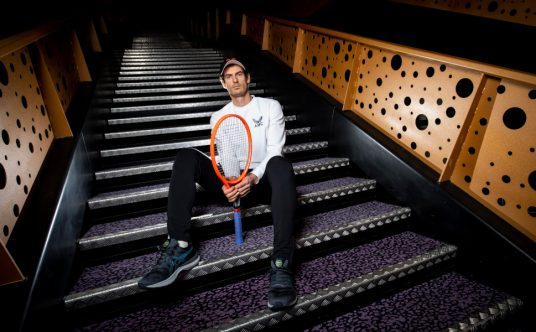 Andy Murray posing