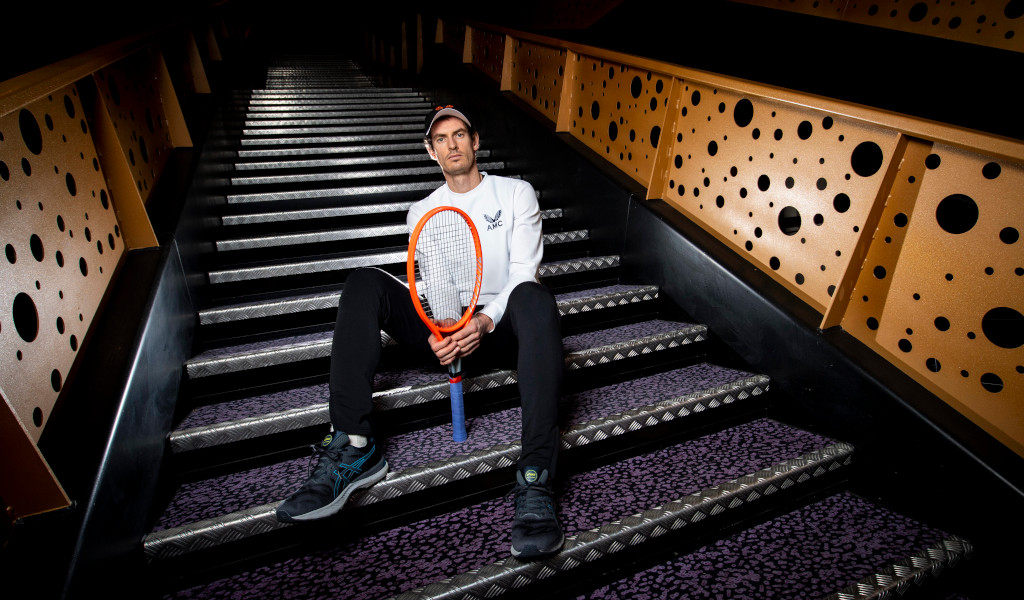 Andy Murray posing