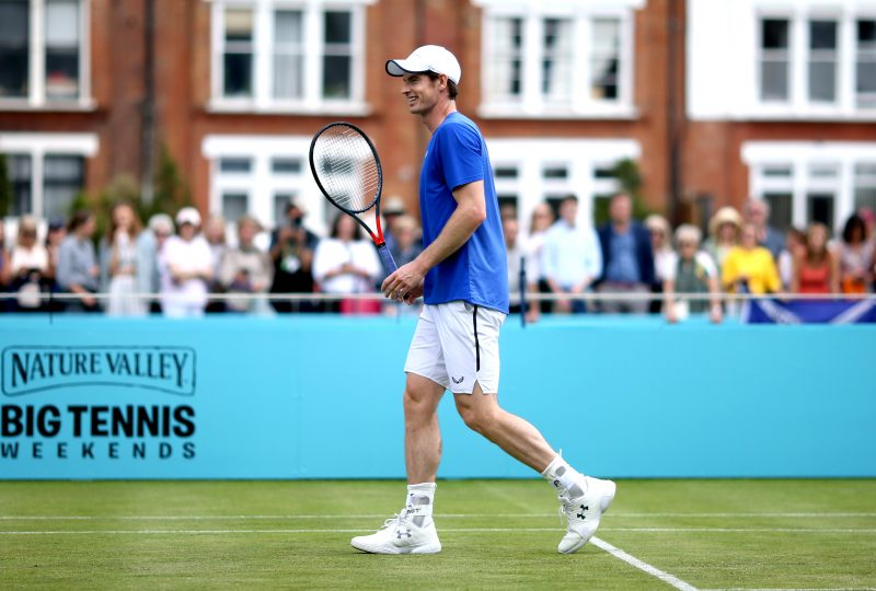 Andy Murray laughing