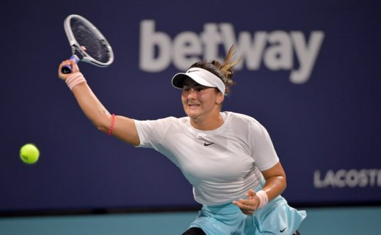 Bianca Andreescu in action