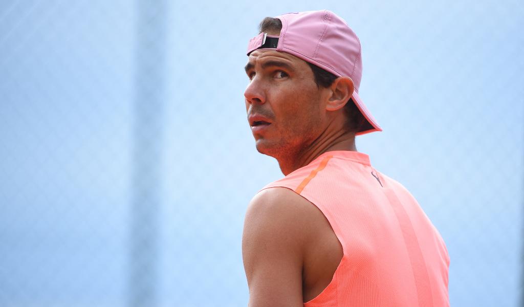 Rafael Nadal looking relaxed