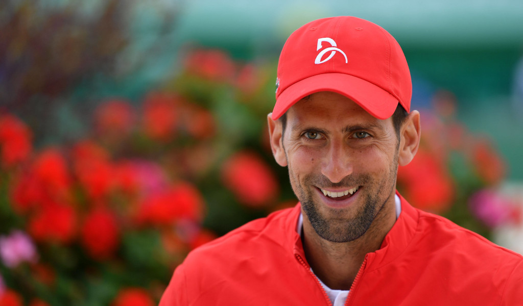 A smiling Novak Djokovic