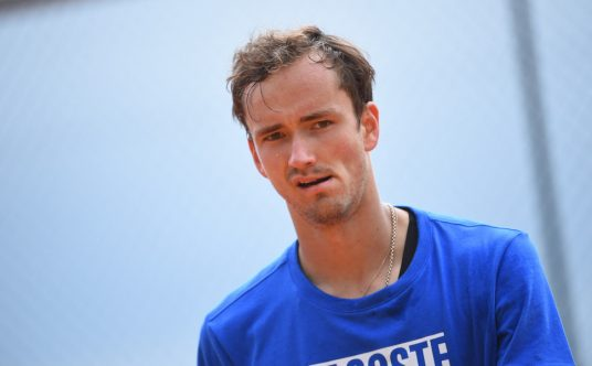 Daniil Medvedev focused