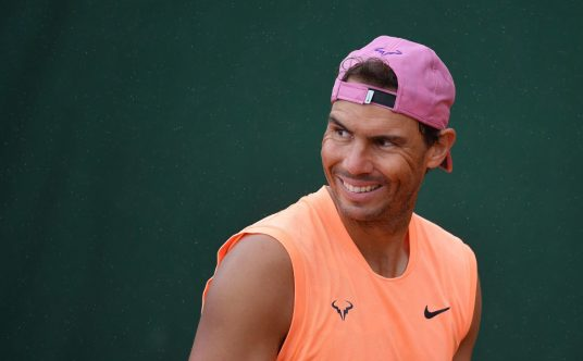 A smiling Rafael Nadal