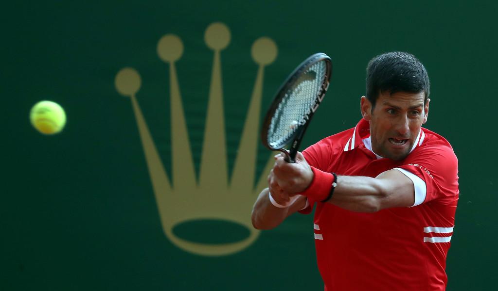 Novak Djokovic swinging