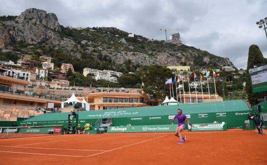 Rafael Nadal on the clay at the Monte-Carlo Masters