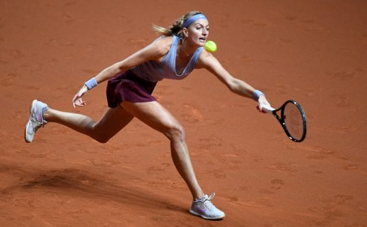 Petra Kvitova on the run