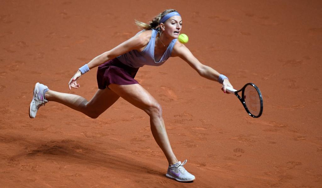 Petra Kvitova on the run