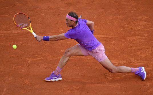 Rafael Nadal stretching