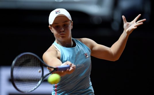 An Ashleigh Barty forehand