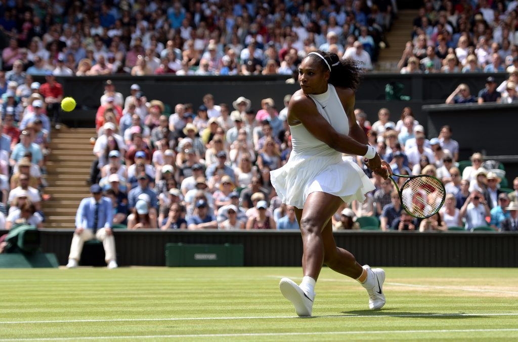 Serena Williams on the run