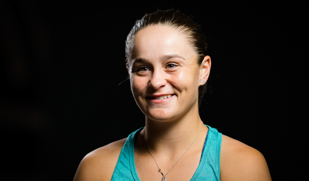A smiling Ashleigh Barty