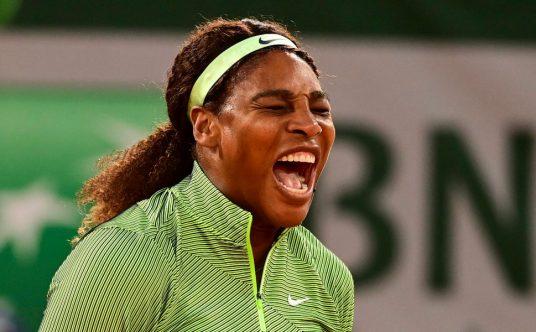 Serena Williams screaming