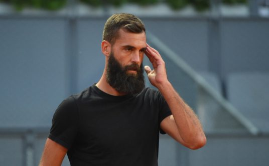 Benoit Paire deep in thought
