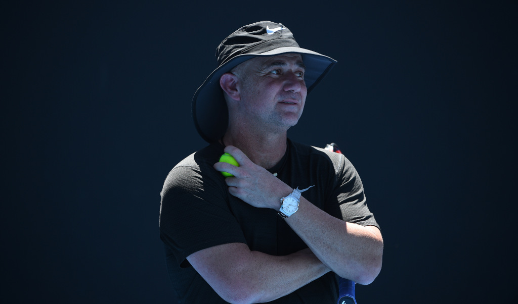 Andre Agassi deep in thought